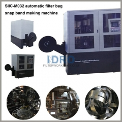 Automatic filter bag snap band making machine/equipment