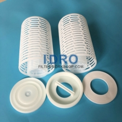 Plastic parts for pleated filter cartridges